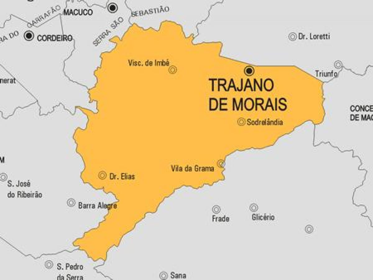 kart over os kommune Trajano de Morais kommune kart   Kart over Trajano de Morais  kart over os kommune